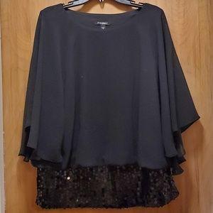 Sequins black blouse